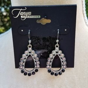 🆕️ NWT Tanya Creations Silver & Black Earrings